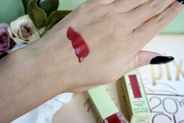 Pixi Beauty MatteLast Liquid Lip in shade Berry Boost swatches