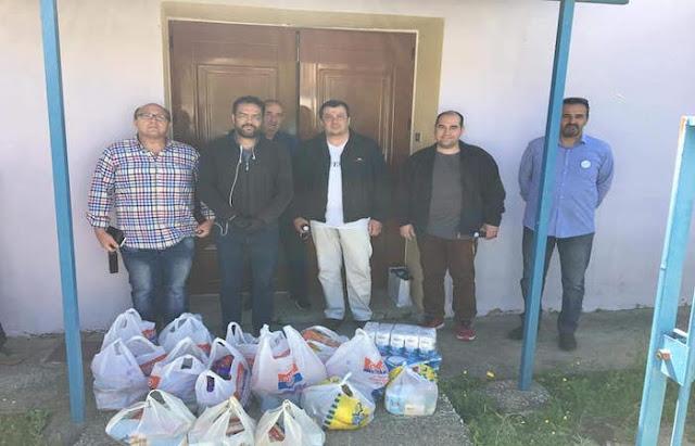 Τρόφιμα στον Δήμο Επιδαύρου από τη Διεθνή Ένωση Αστυνομικών Αργολίδας