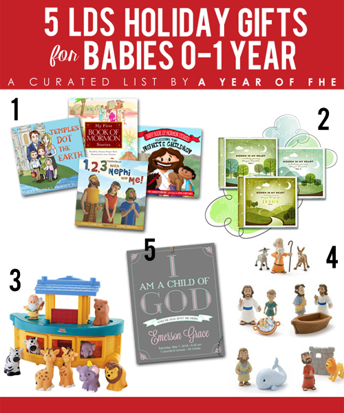 Gift Guide // 5 LDS Holiday Gifts for Babies 0-1 Year old. Great ideas for Christmas! #latter-daysaints #mormon #giftguide