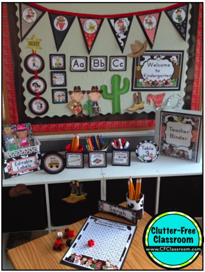 Western Theme Classroom Decor