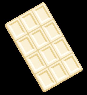 板チョコのイラスト(ホワイト)