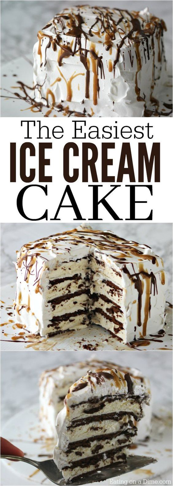 Easy Ice cream Cake Recipe