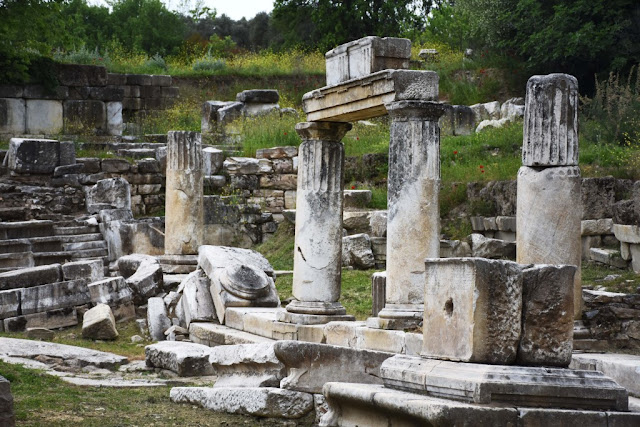 Columns to be excavated at ancient Lagina in western Turkey