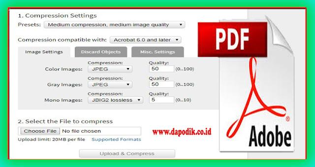 Cara Memperkecil Ukuran File PDF Secara Online (Cara Kompres Ukuran File PDF Secara Online)