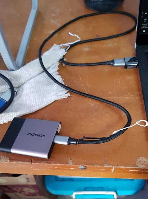 SSD External Samsung T2 + OTG Type C Samsung S8 original