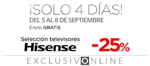 Mejores ofertas ¡Solo 4 días! -25% selección televisores Hisense de El Corte Inglés