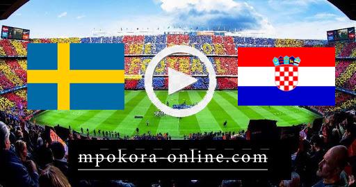 نتيجة مباراة كرواتيا والسويد بث مباشر كورة اون لاين 11-10-2020 دوري الأمم الأوروبية