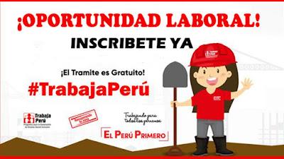 TrabajaPerú Empleo Temporal para sectores pobres mano de obra no calificada