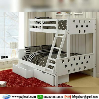 dipan tempat tidur anak mewah kayu jati murah