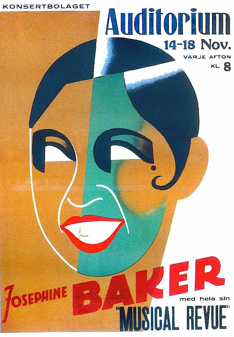 Josephine Baker Musical Review, a sensation in Europe, aided the French Resistance during World War II and was involved in USA civil rights
