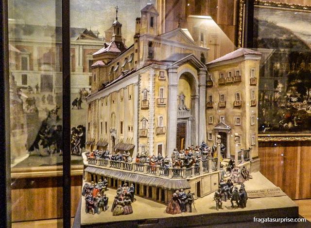 Maquete das Gradas de San Filipe, no Museu de História de Madri, no bairro de Chueca