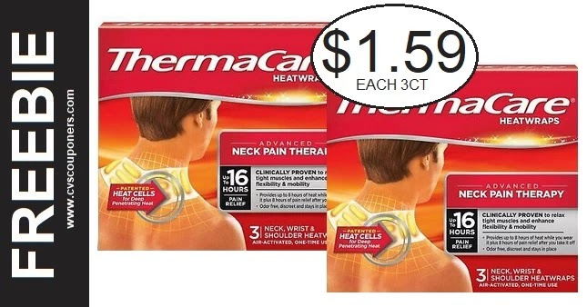 CVS Deal Thermacare Heat Wraps 2/28-3/6