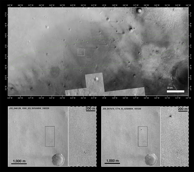 queda da sonda schiaparelli - imagens