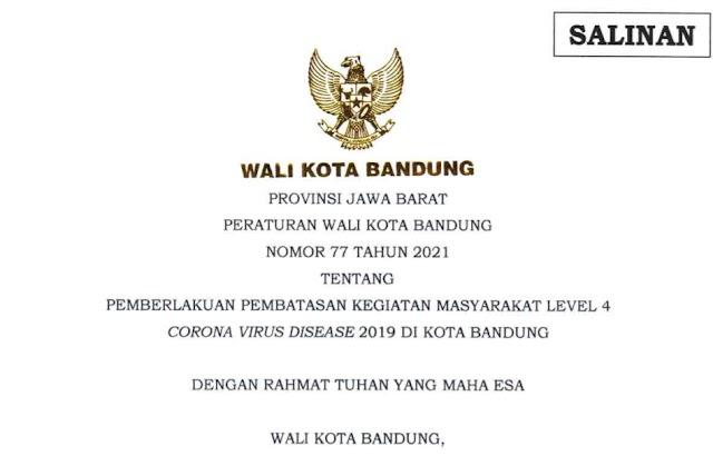 Ini Aturan PPKM Level 4 di Kota Bandung untuk Usaha Kuliner, Pusat Perbelanjaan, Hotel, dan Tempat Wisata