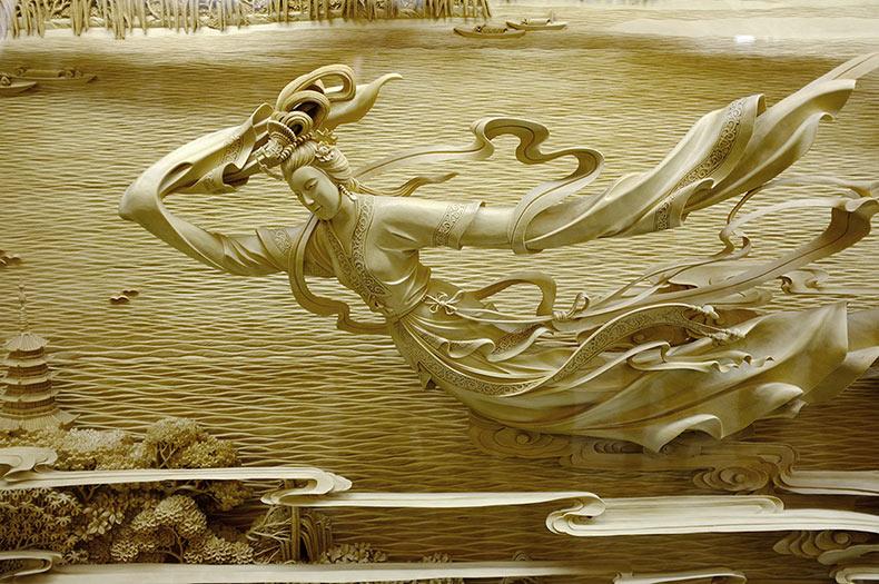 El exquisito detalle del tradicional tallado chino en madera de Dongyang