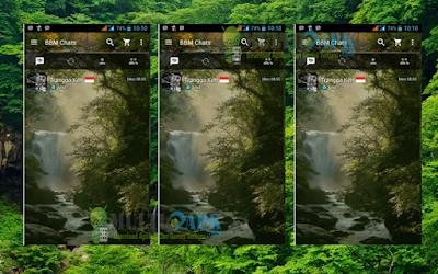 BBM Mod Waterfall Theme v2.13.0.26 APK Clone
