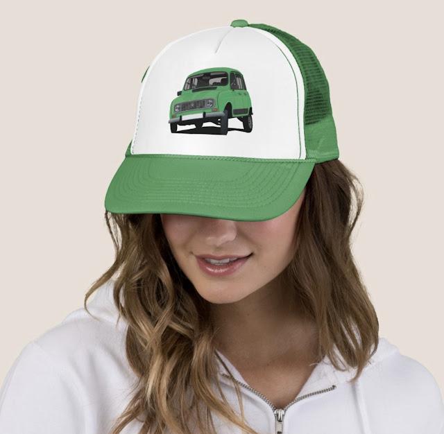 Green Renault 4 trucker hat cap