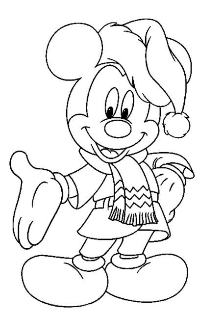 Dibujos Navidad Mickey Mouse  para colorear colorear