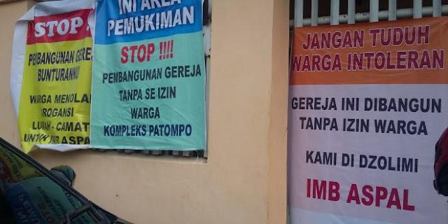 Sudah Punya IMB, Warga Muslim Tetap Segel Gereja Toraja