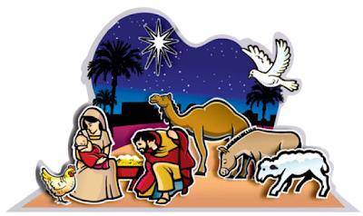 Kerst, diorama voor kleuters 3 , kleuteridee.nl ,Christmas nativity, christmas diorama, free printable