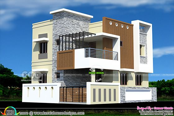 2010 square feet South Indian home plan