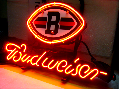 Wiki Neon Sign Blog Budweiser Bud Light Nfl Cleveland