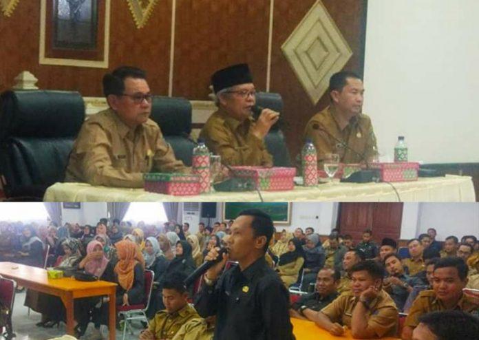 Wabup Ami Taher Kumpulkan Ratusan Honorer di Setda Kerinci