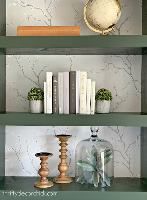 Decorating bookcases with faux plants