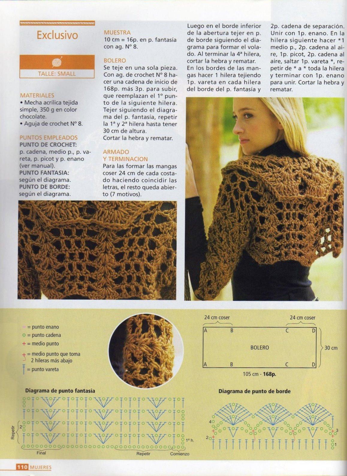 Patron Crochet Bolero ocasion especial