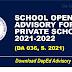SCHOOL OPENING ADVISORY FOR PRIVATE SCHOOLS 2021-2022(DA 036, S. 2021)