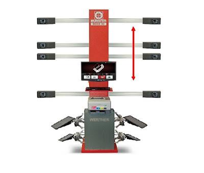 Máy kiểm tra góc đặt bánh xe công nghệ 3D Ý