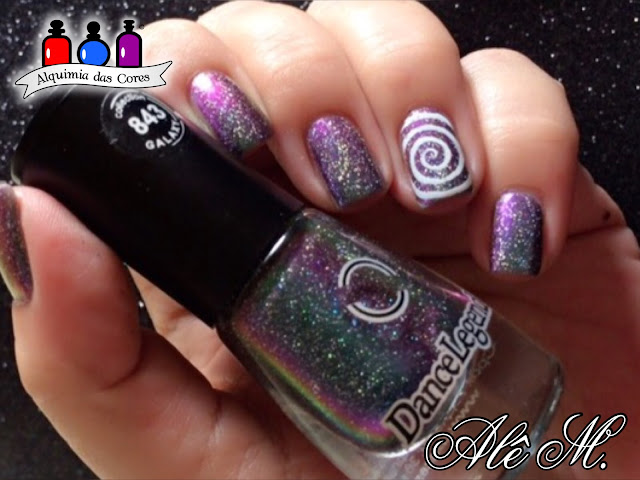 Dance Legend, Milky Way, Galaxy, Multichrome, Sugar Bubbles, SB047, La Femme, Carimbado, Scatter Holo, Holo, Alê M.