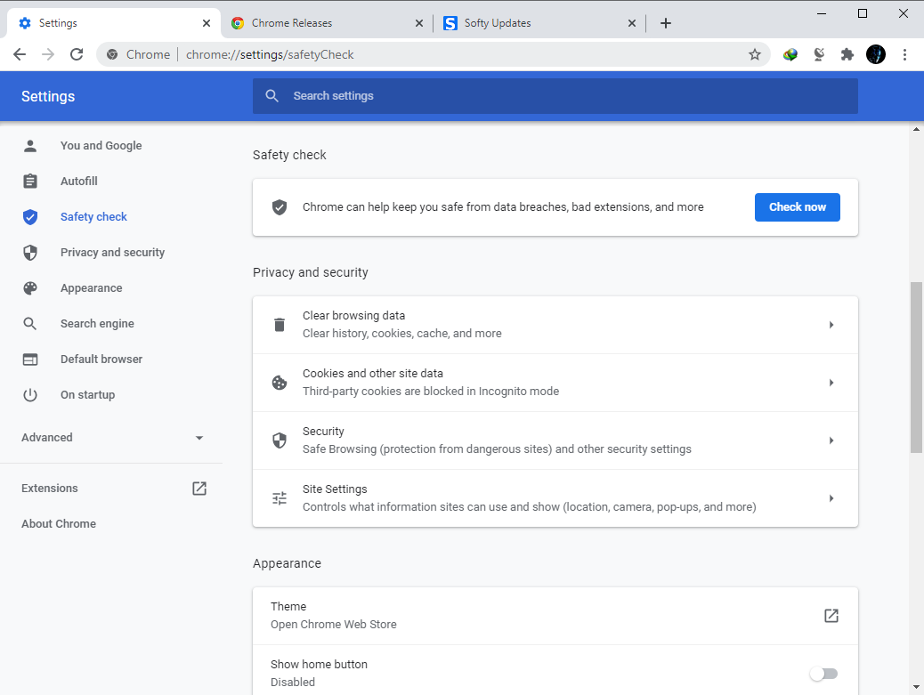 Google Chrome Browser 90.0.4430.72