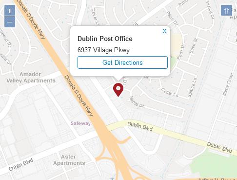 Post Office Dublin Alameda CA