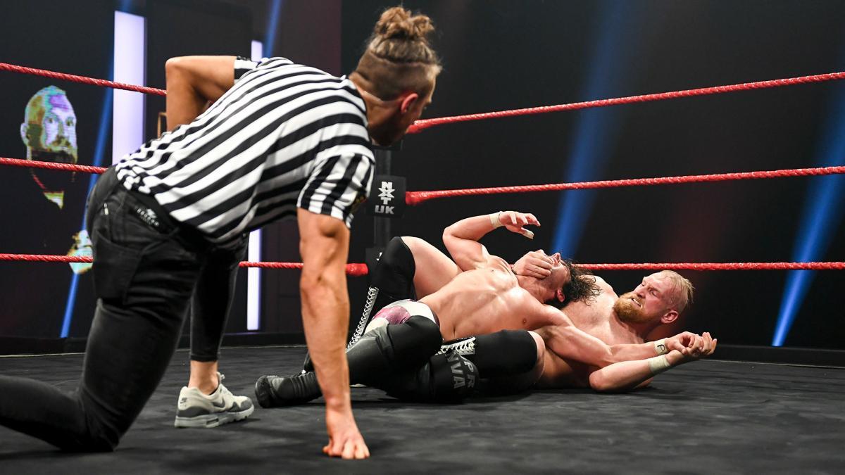 Pete Dunne, Alexander Wolfe, Noam Dar in NXT UK