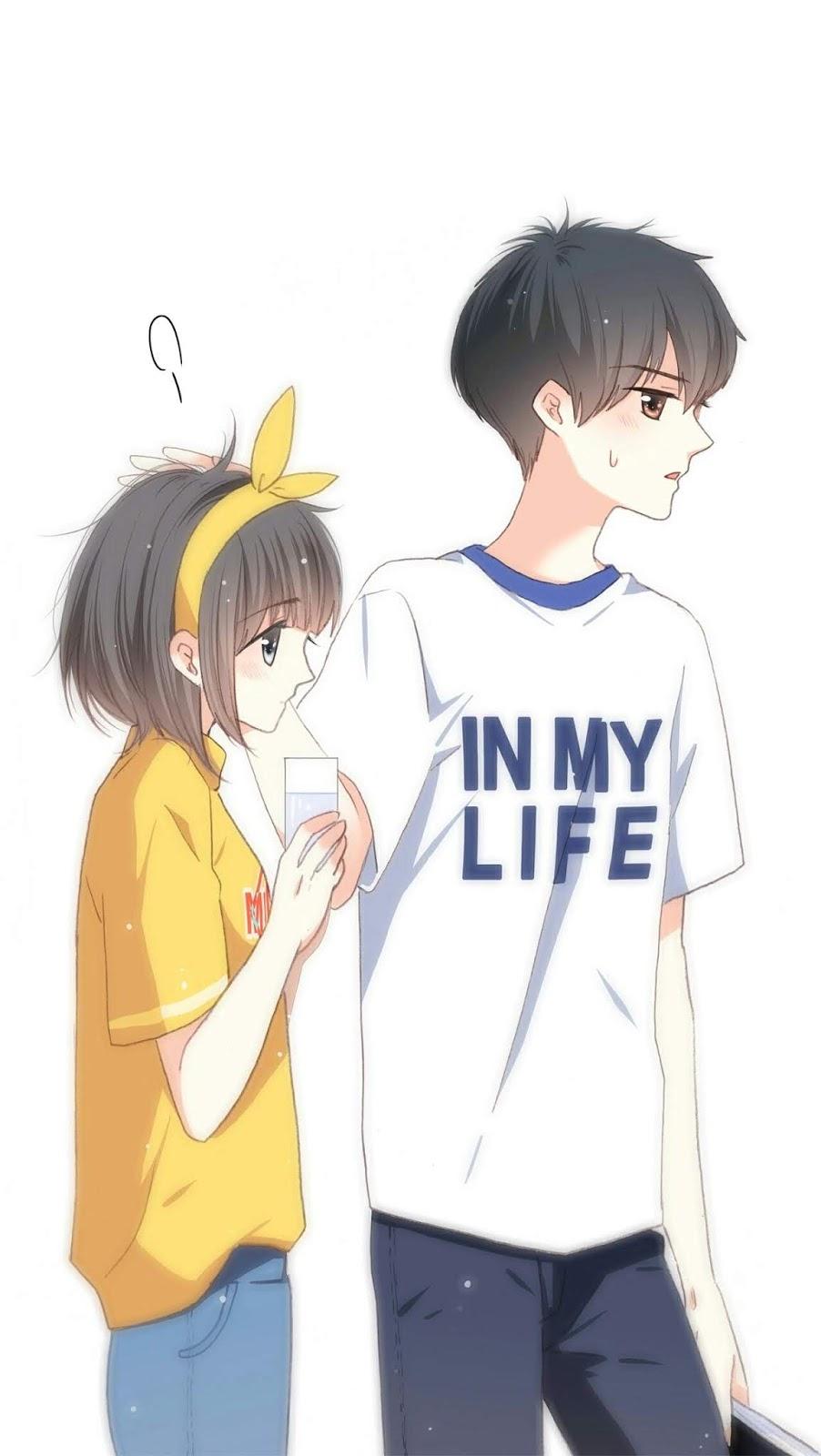 hình nền điện thoại anime nữ đáng yêu