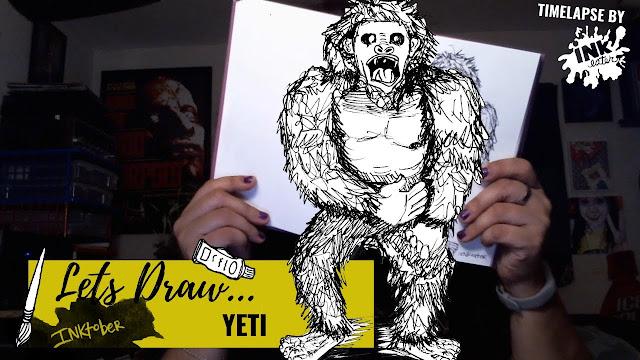 Drawing the Yeti - Exploring Cryptids Worldwide | Inktober