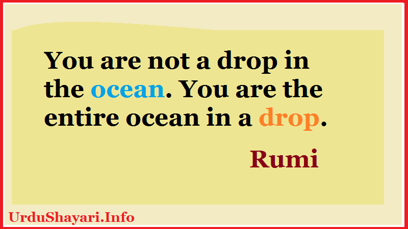 Quotes on ocean and drop- Rumi images