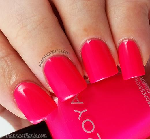 Zoya Ali, a hot pink nail polish