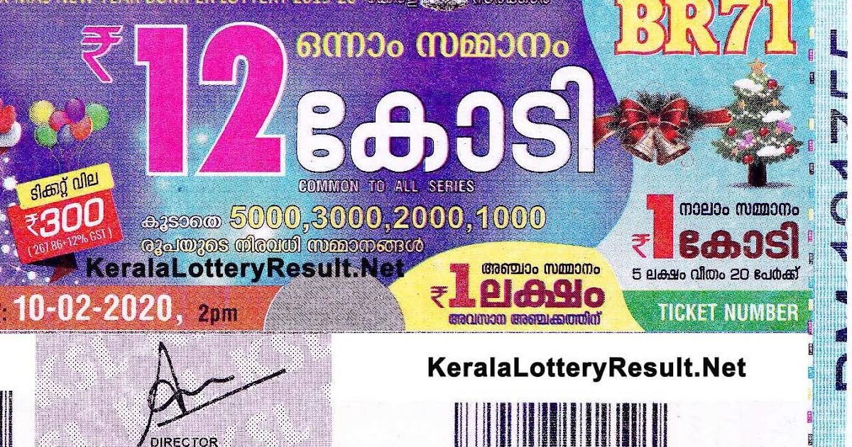 Kerala Bumper Lottery Results