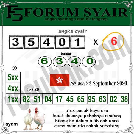 Forum Syair HK Selasa 22 September 2020
