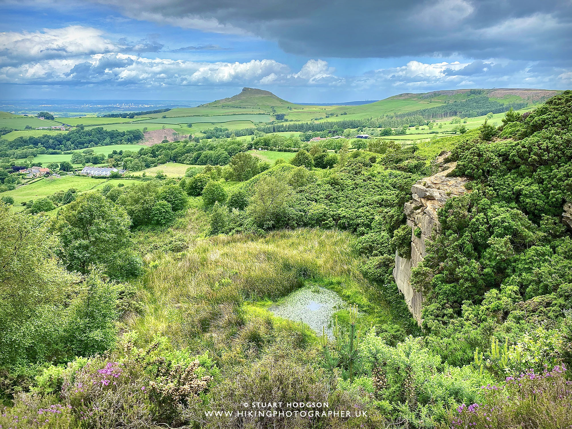 Roseberry topping walk best views great Ayton map route height how high parking