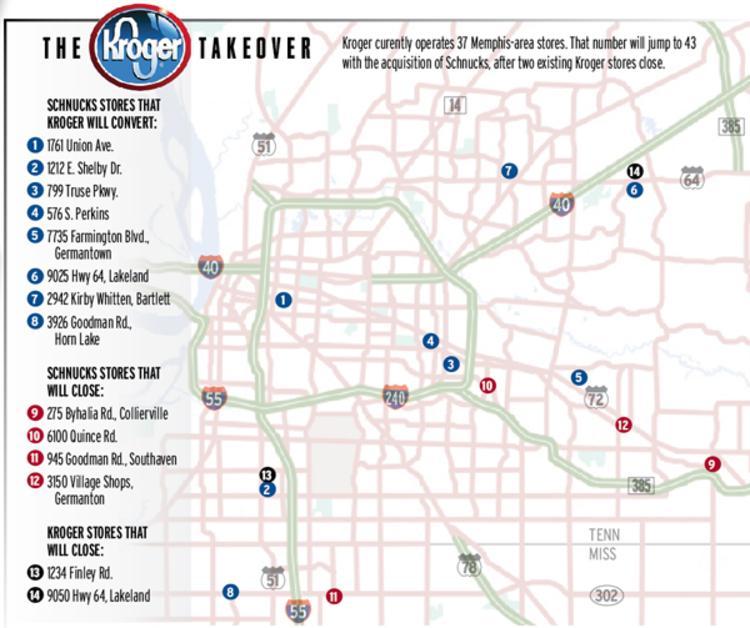 The MidSouth Retail Blog EndofYear MidSouth Kroger Statuses - Map of kroger stores in us