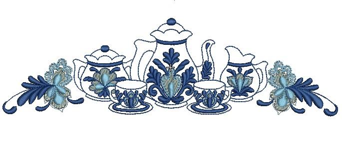 Download Free Beautiful Blue Kitchen Embroidery Design Download Free Designs Embroidery