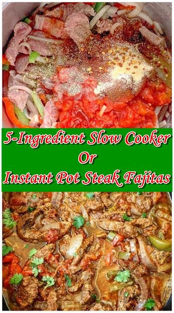 5-Ingredient Slow Cooker Or Instant Pot Steak Fajitas (Low-Carb, Paleo, Whole30)