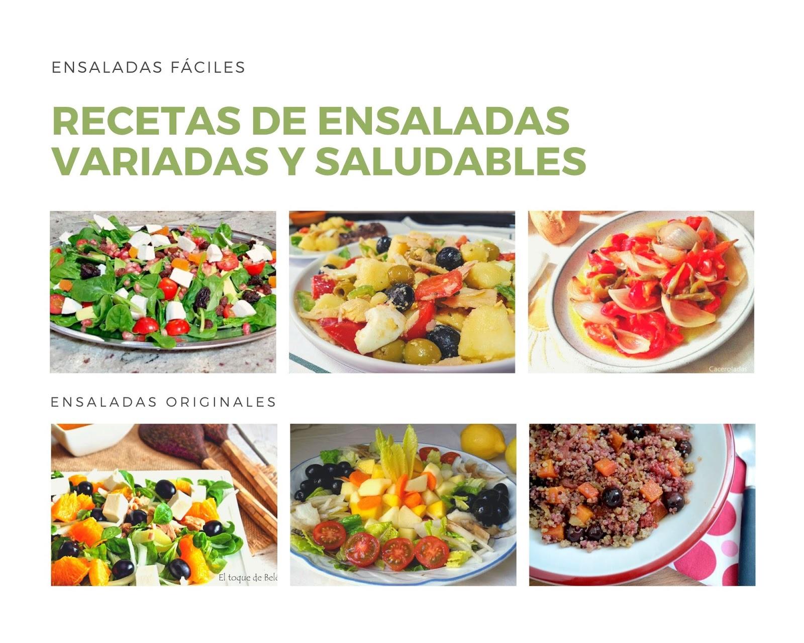 Recetas de ensaladas fáciles y originales