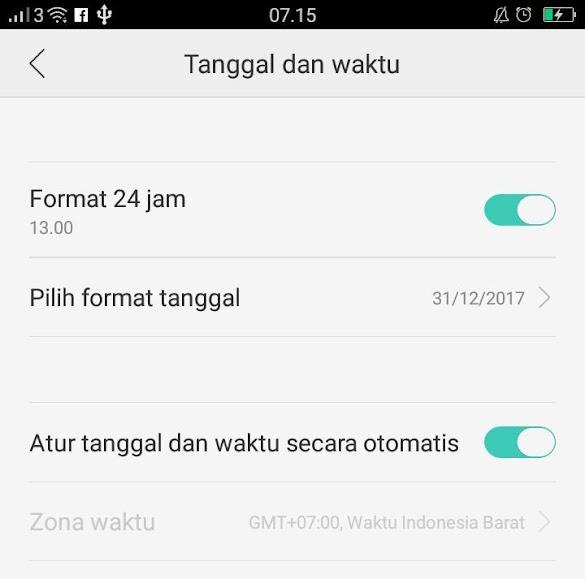 Mengatasi Whatsapp tidak bisa dibuka tanggal ponsel anda tidak akurat