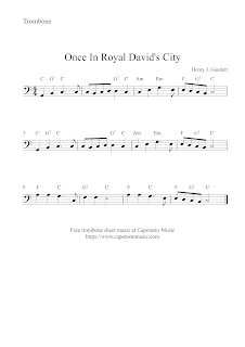 Once in royal David's city, trumpet sheet music