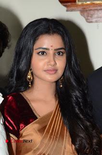 Actress Anupama Parameswaran Stills in Silk Saree with Shatamanam Bhavati Team at Sandhya Theater  0011.JPG