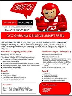 Lowongan Kerja di PT Smartfren Telecom, TBK